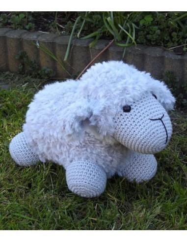 Haakpakket Sheep Funny Furry Soft grijs