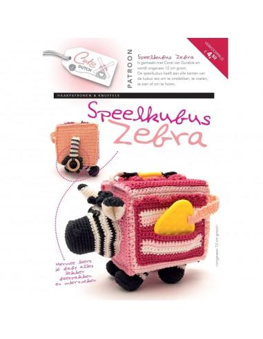 Patroonboekje speelkussen Zebra