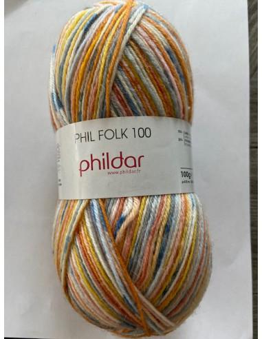 Phil Folk 100 kleur mandarine