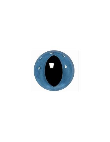 Poezenoogjes blauw 12 mm per paar (2...