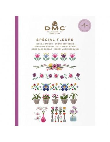 DMC boek ideeën om te borduren bloemen