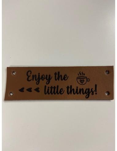 leren label enjoy the little thing...