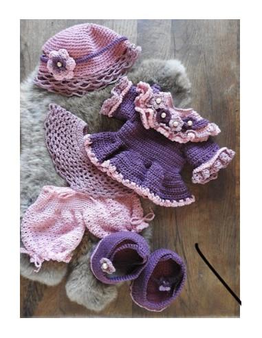 Haakpakket XXL kledingset Fleury rose
