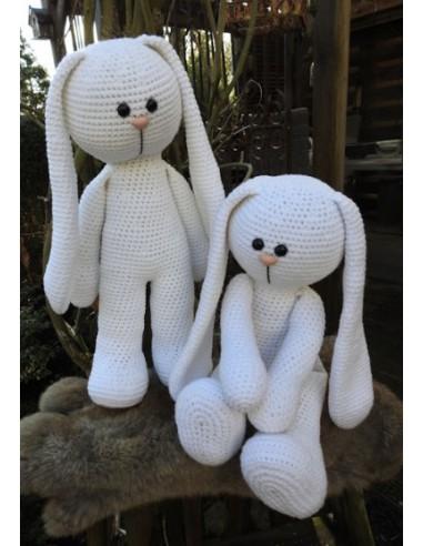 XXL Haakpakket Funny Bunny Basic wit...
